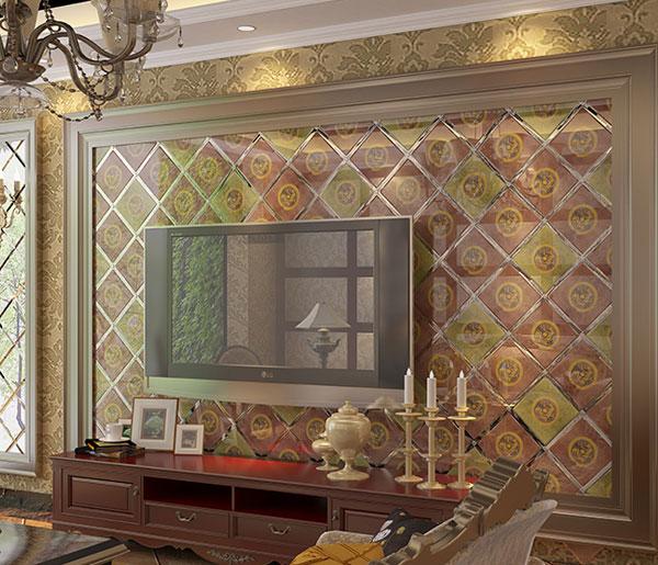 电视机背景墙拼镜艺术玻璃砖3-3-001_建企商盟-建筑建材产业的云采购联盟平台