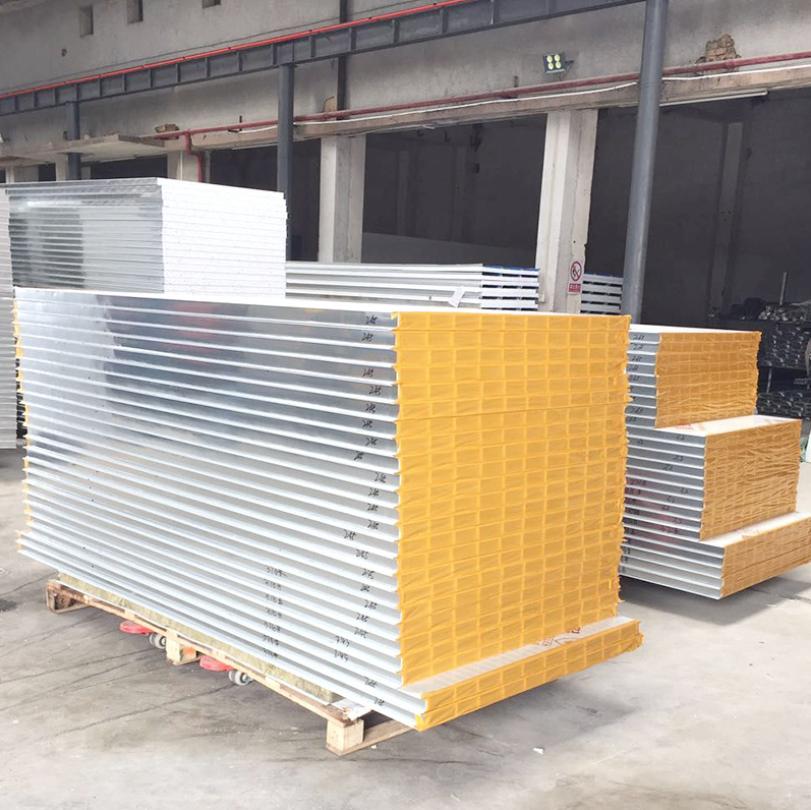 直供机制玻镁彩钢复合夹芯板 A级阻燃中空玻镁板 富强彩钢夹芯板_建企商盟-建筑建材产业的云采购联盟平台